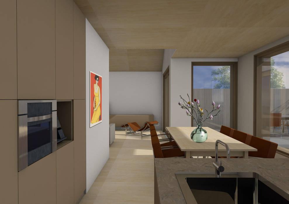 Dick van Aken Architectuur Dapur Modern Kayu Brown
