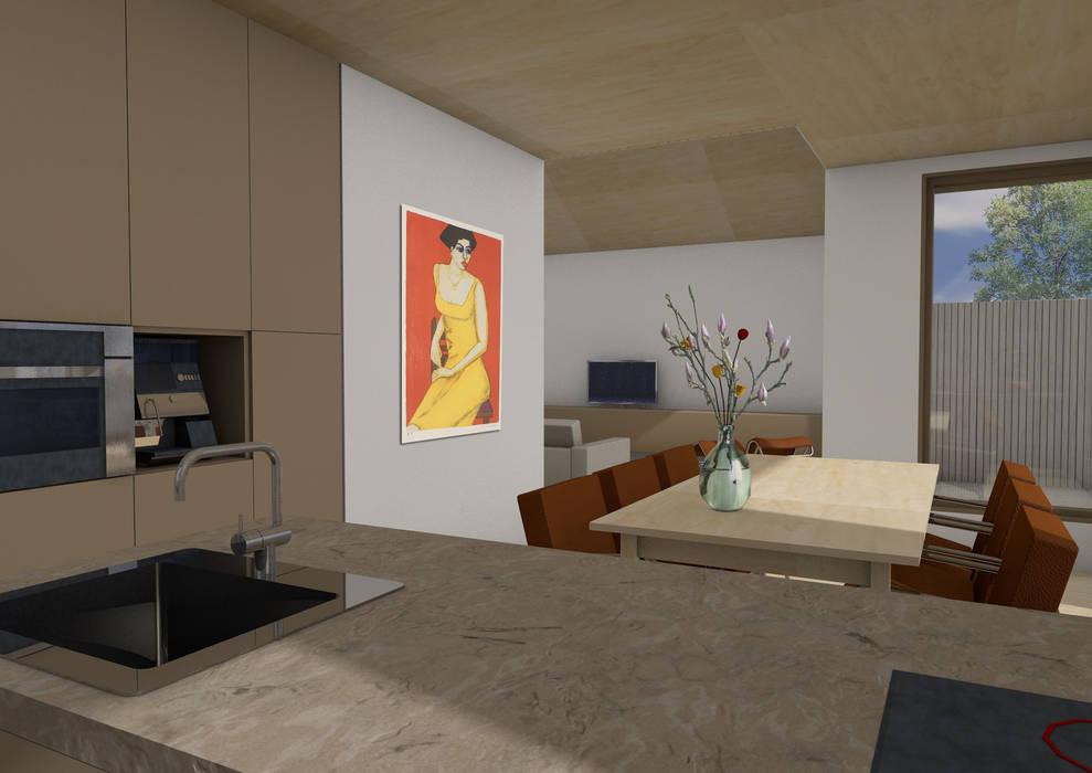 Dick van Aken Architectuur Comedores de estilo moderno Madera Acabado en madera