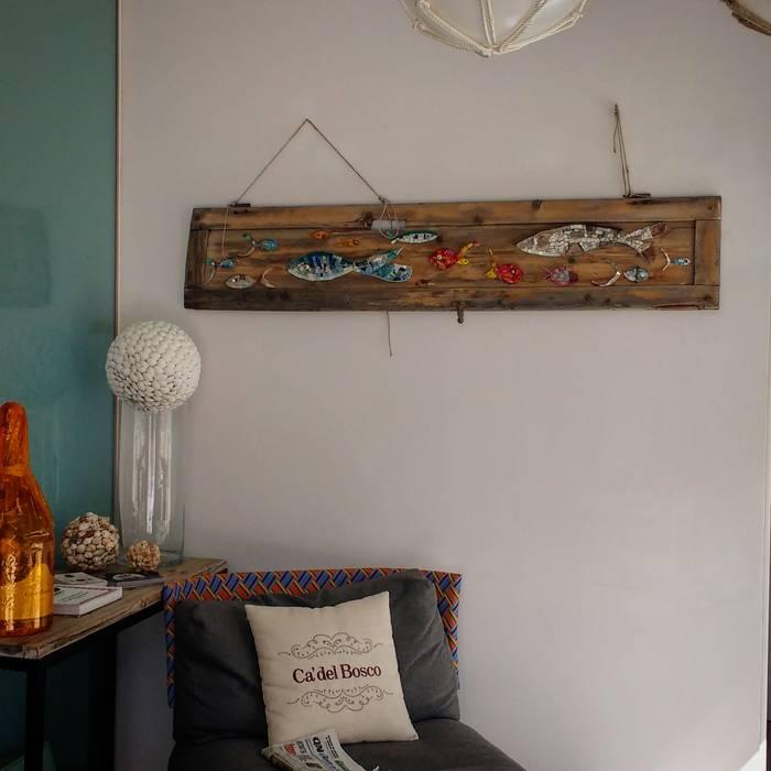 """""""Fondale"""" quadro a mosaico.   - non più disponibile-: Ingresso & Corridoio in stile  di Rossella Casadio"""