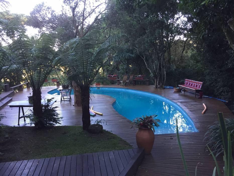 Projeto piscina Piscinas rústicas por Recyklare Projetos de Arquitetura , Restauro & Conservação Rústico