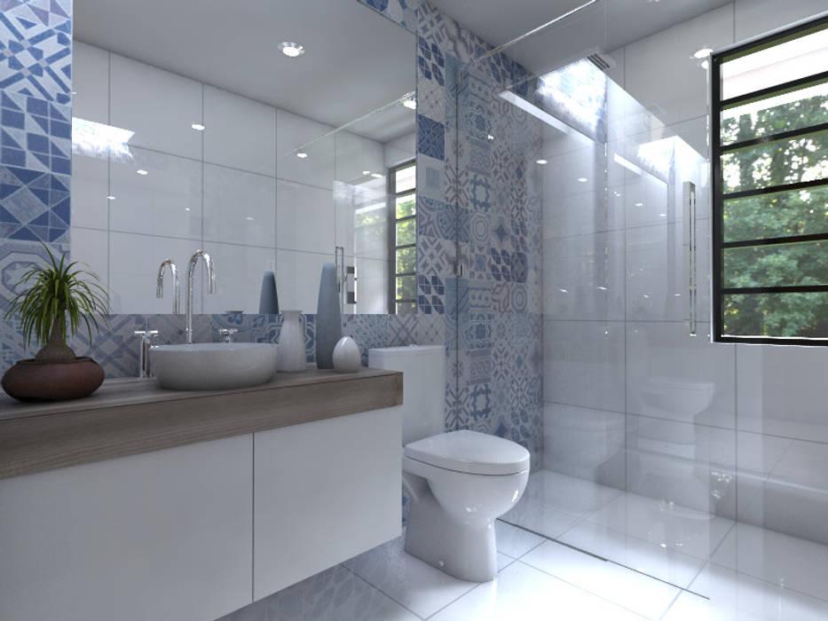 Cuarto de Baño Baños modernos de Arqternativa Moderno Ladrillos