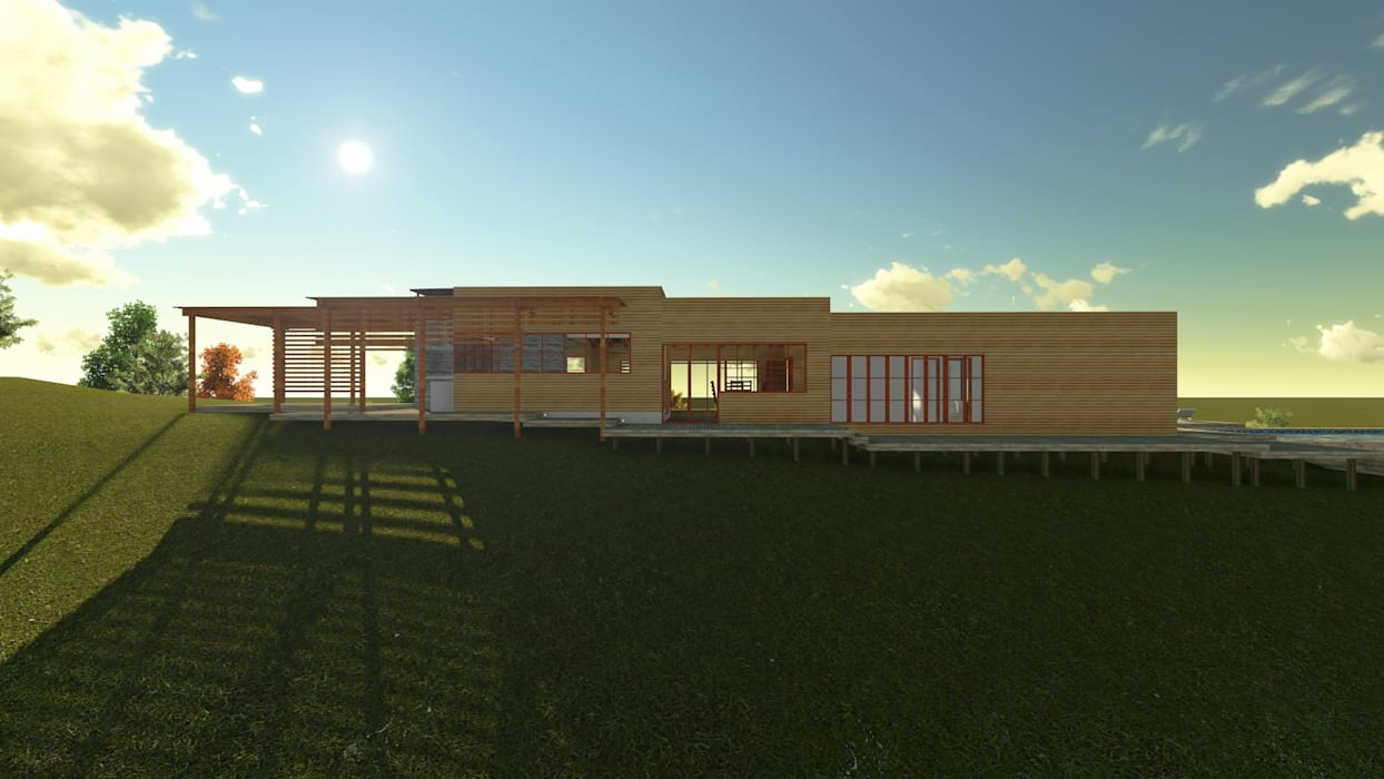 Casa en la Colina Casas estilo moderno: ideas, arquitectura e imágenes de CA Arquitectura Moderno
