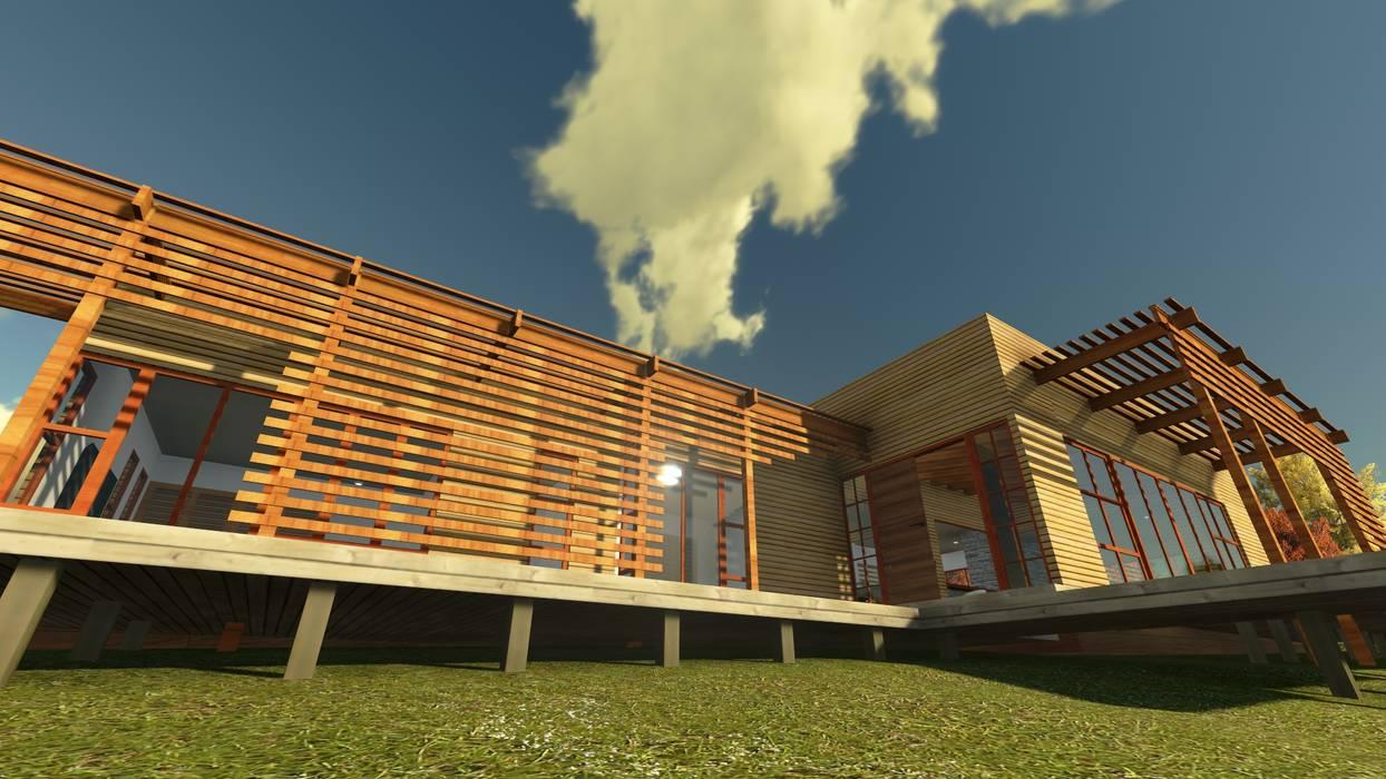 Casa en la Colina Casas estilo moderno: ideas, arquitectura e imágenes de CA|Arquitectura Moderno