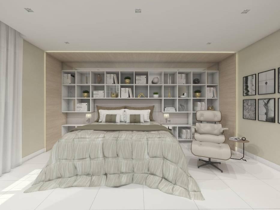 Phòng ngủ phong cách hiện đại bởi Larissa Vinagre Arquitetos Hiện đại