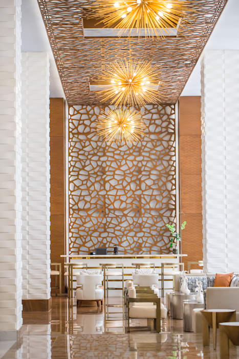 Wallart 3d Wall Decor Vaults In Waldorf Astoria Hotel In Panama Wallart 3d Wall Decor Modern Corridor Hallway Stairs Bamboo White Homify