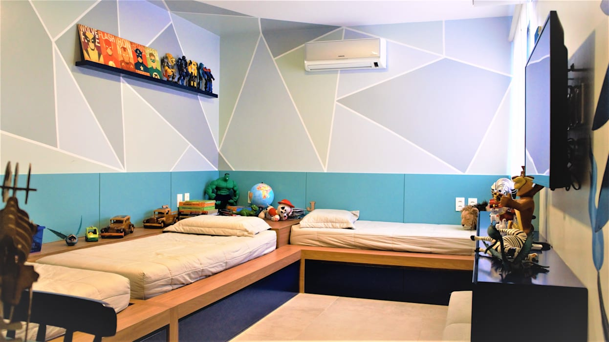 Modern Kid's Room by Eduardo Lins & Bárbara França - ARQUITETURA Modern MDF