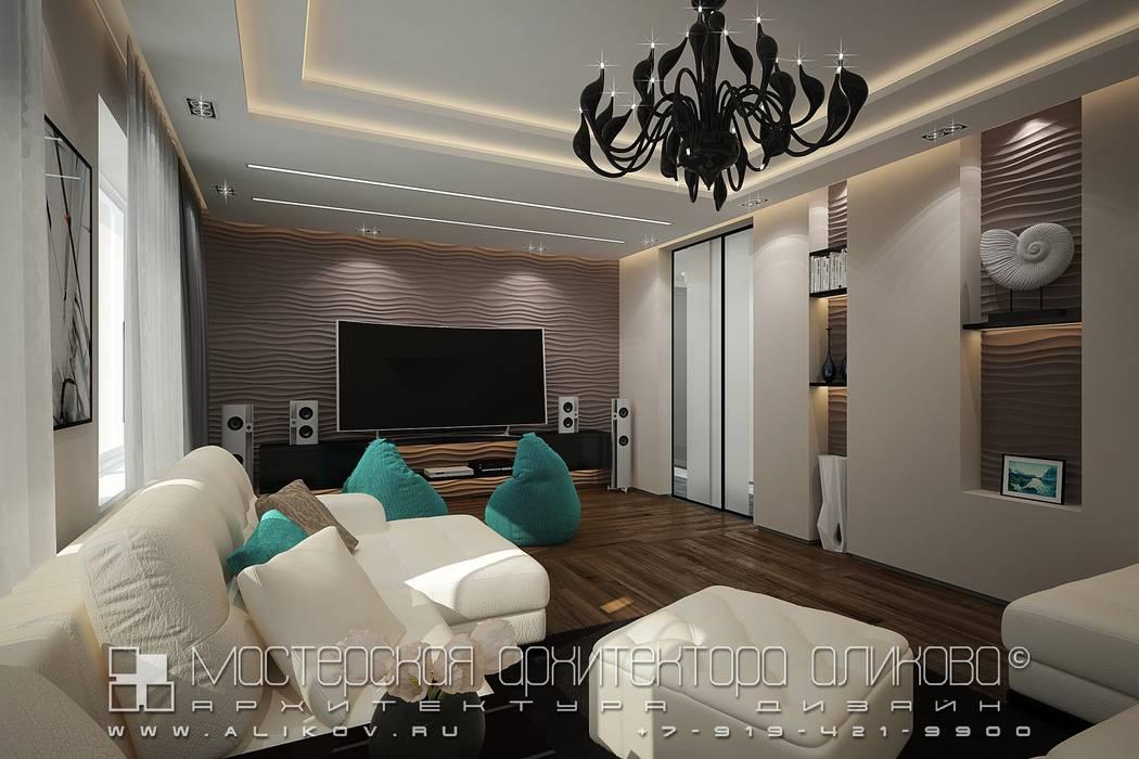 Кв Хетага: Гостиная в . Автор – Мастерская архитектора Аликова