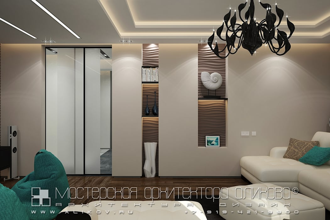 Bedroom by Мастерская архитектора Аликова,