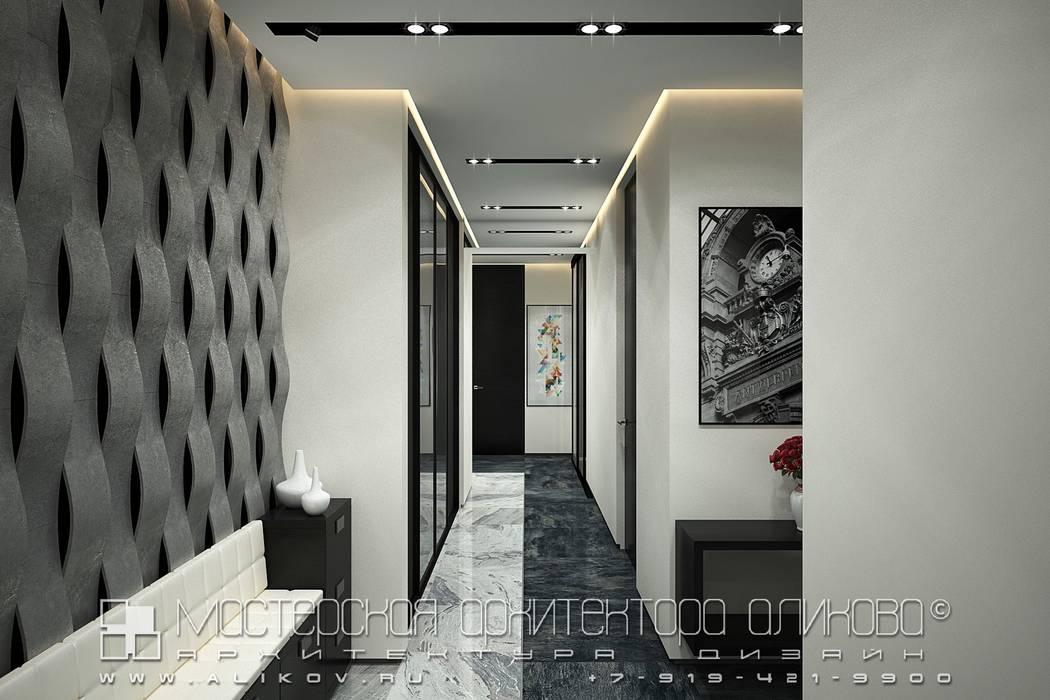 Corridor & hallway by Мастерская архитектора Аликова,