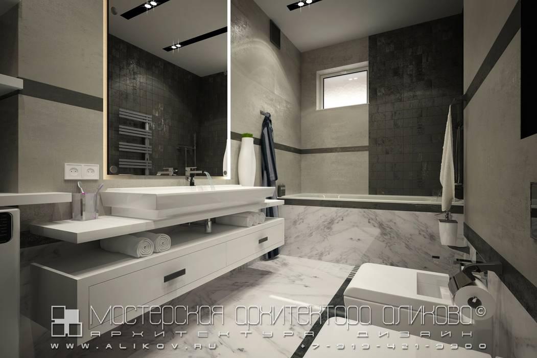 Кв Хетага: Ванные комнаты в . Автор – Мастерская архитектора Аликова