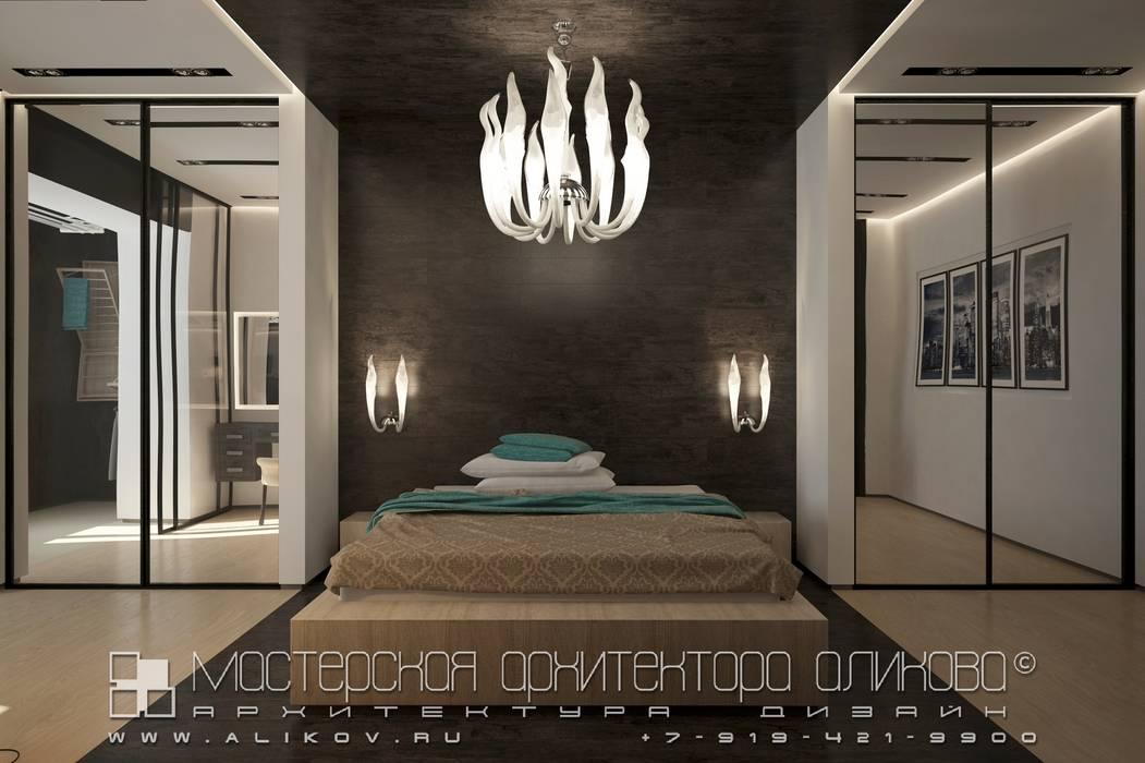 Modern Bedroom by Мастерская архитектора Аликова Modern