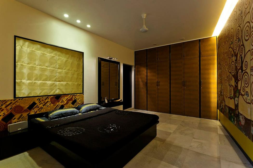 Mittal Residence, Colaba, Mumbai Eclectic style bedroom by Inscape Designers Eclectic