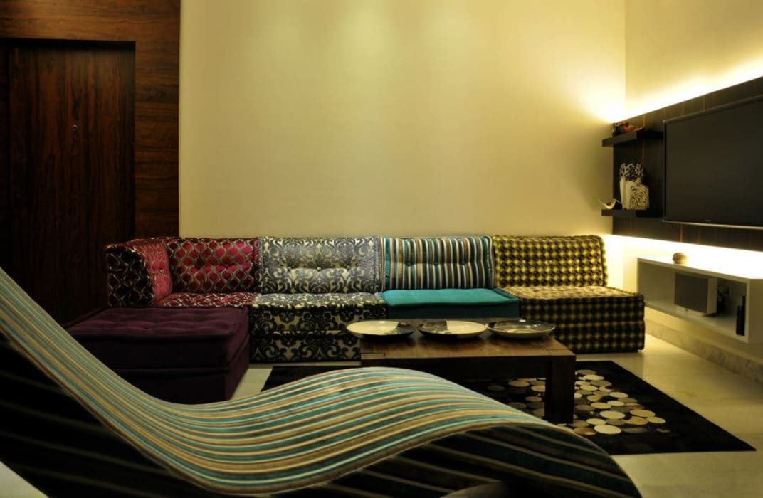 Mittal Residence, Colaba, Mumbai Inscape Designers Eclectic style living room