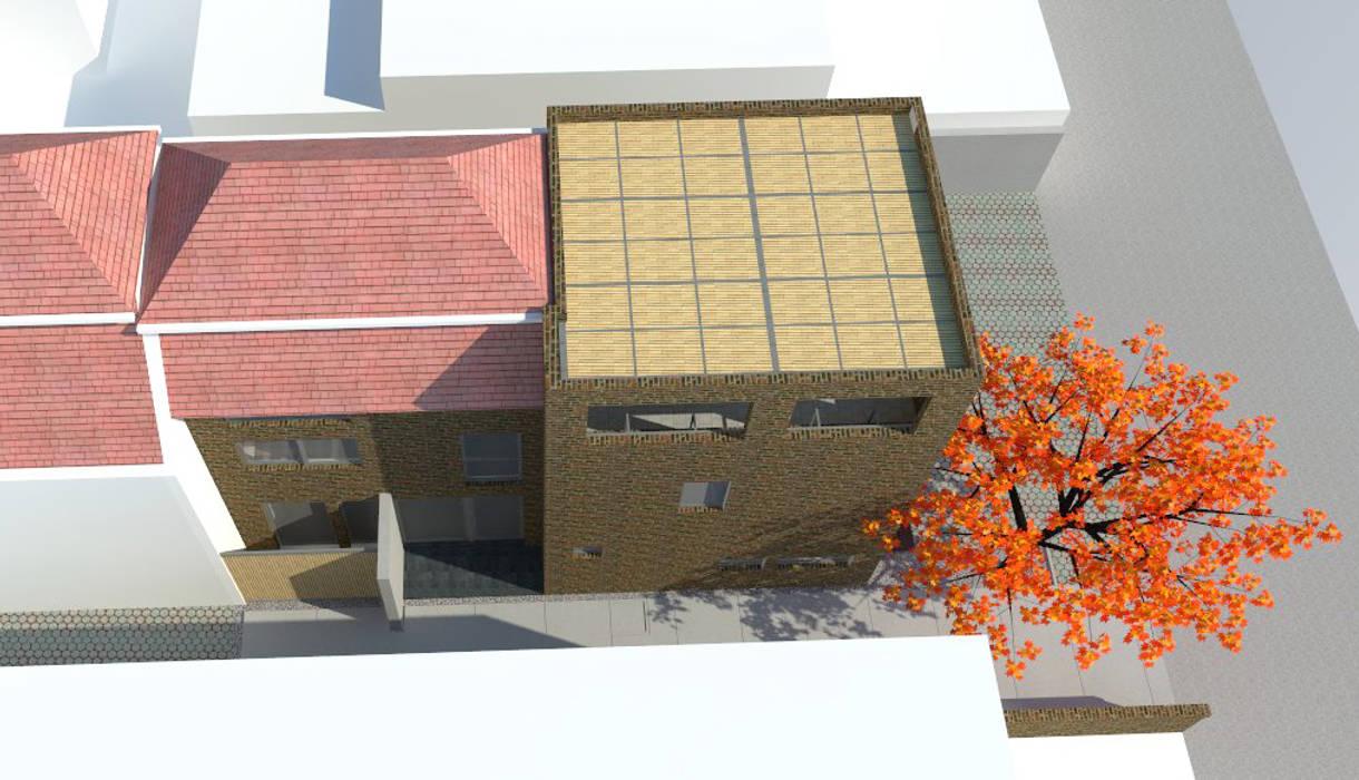 Vista superior proyecto DIMA Arquitectura y Construcción Casas estilo moderno: ideas, arquitectura e imágenes