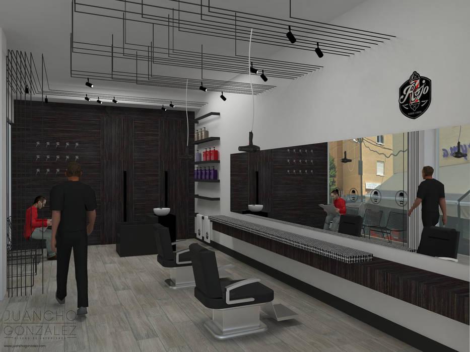 RENDER BARBERIA Espacios comerciales de estilo moderno de JUANCHO GONZALEZ Moderno