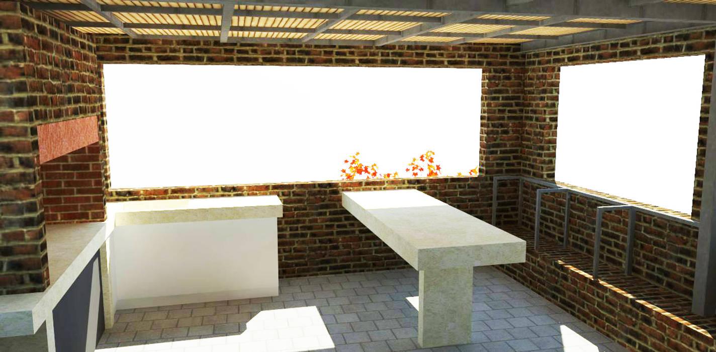 Terrasse de style  par DIMA Arquitectura y Construcción,
