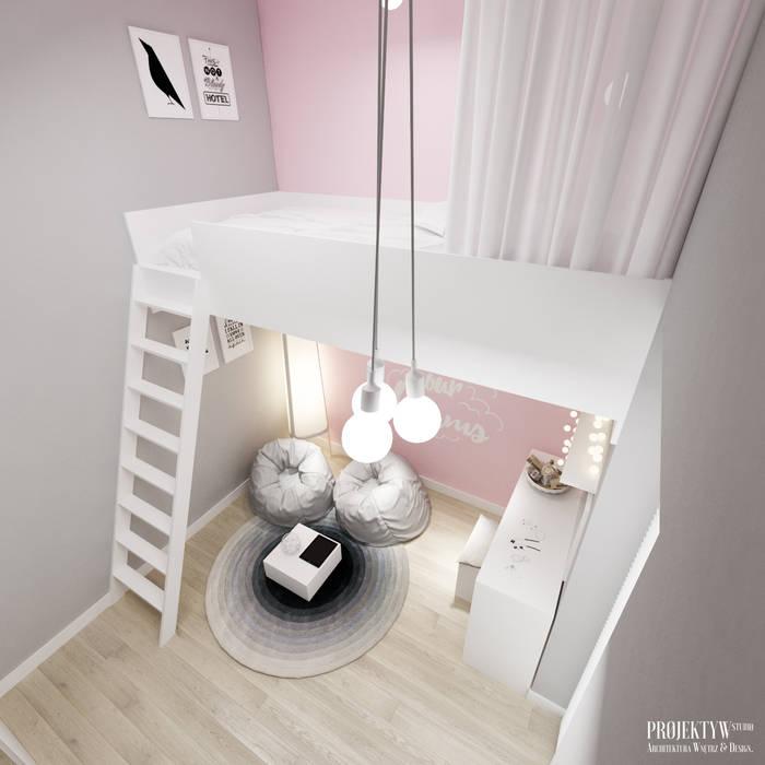 Projekt wnętrz domu jednorodzinnego w Rzeszowie.: styl , w kategorii Pokój dziecięcy zaprojektowany przez PRØJEKTYW | Architektura Wnętrz & Design,Skandynawski