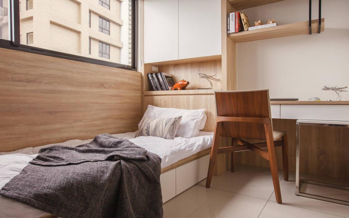 Scandinavian style bedroom by 双設計建築室內總研所 Scandinavian