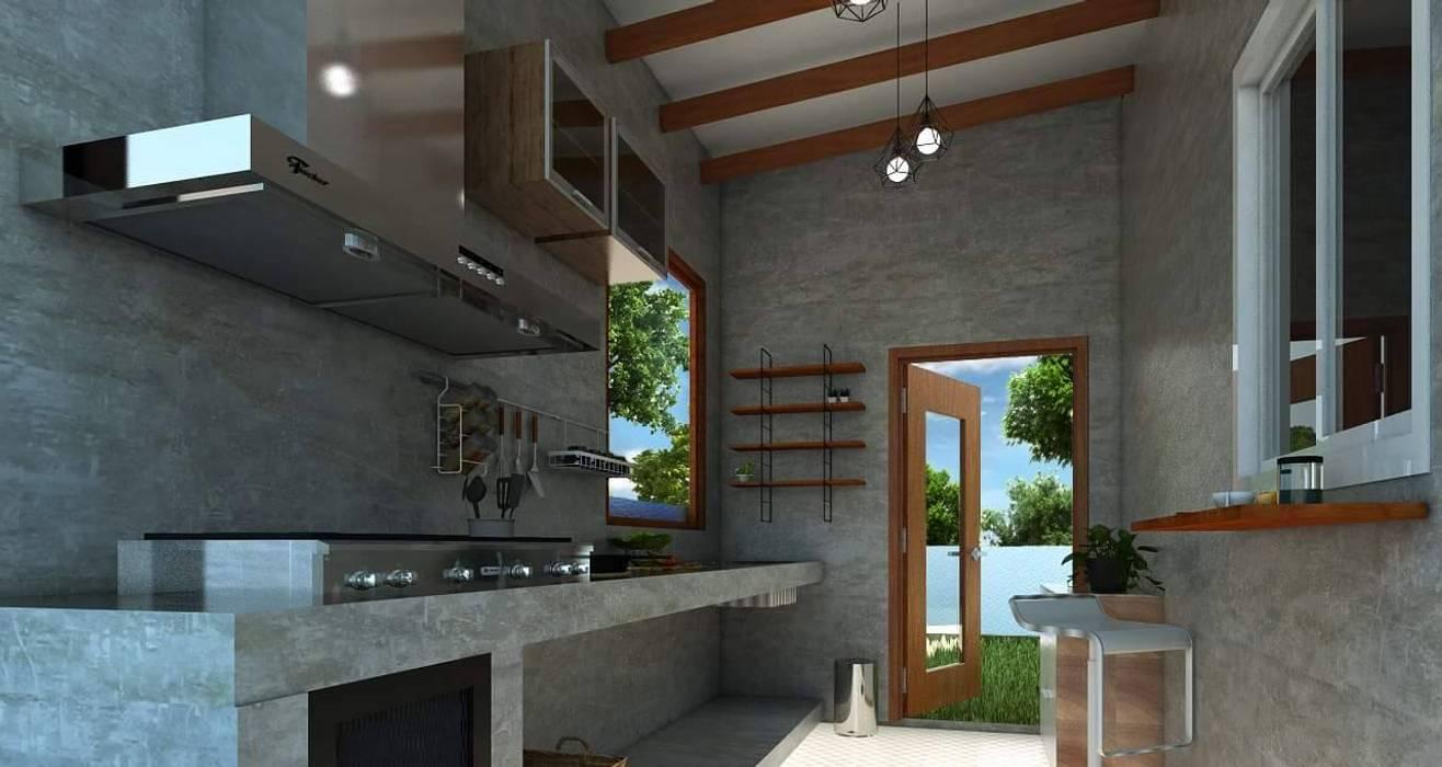 Projekty,  Kuchnia zaprojektowane przez P-lona