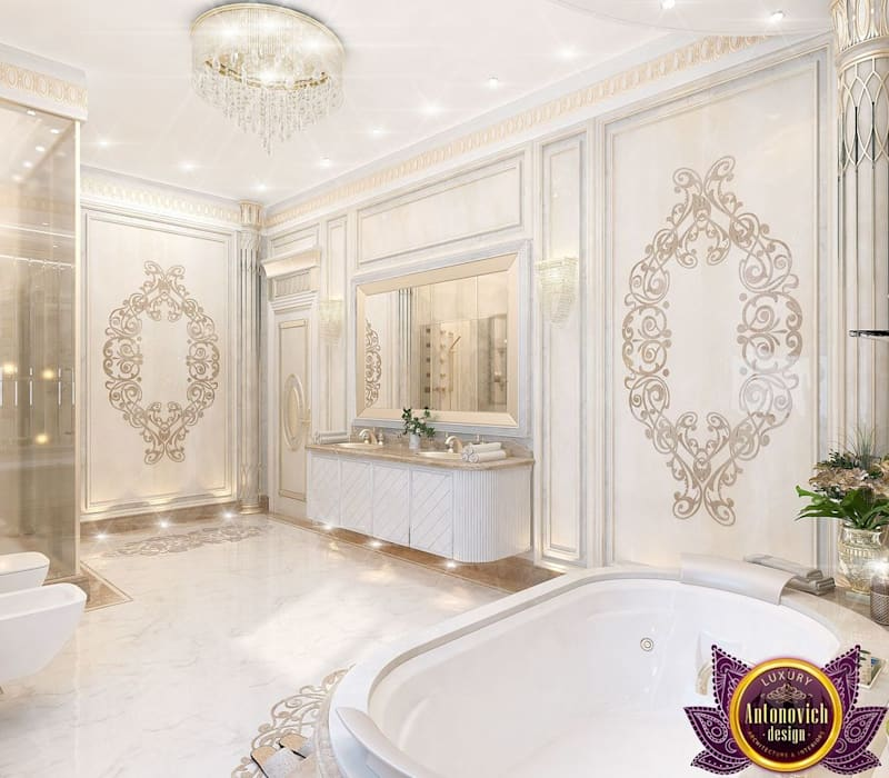 The Homify Guide To Decorating A White Bedroom: Bathroom By Luxury Antonovich Design