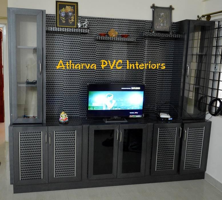 PVC Tv Showcase: modern  by Atharva PVC Interiors,Modern Plastic