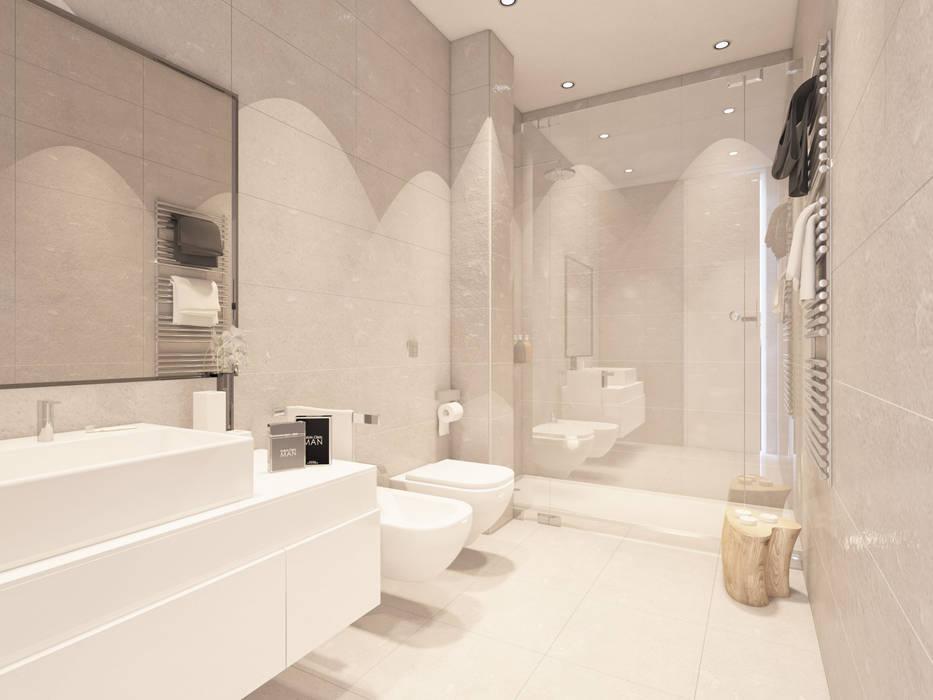 Apartamentos en Tarifa (Infografías y diseño interior): Baños de estilo  de DIKA estudio