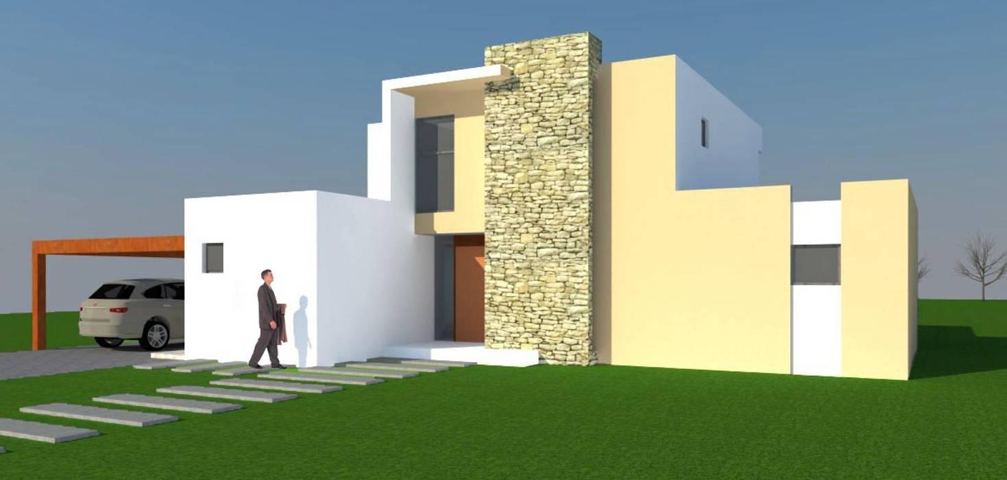 H2H arquitectos Minimalist house Reinforced concrete White