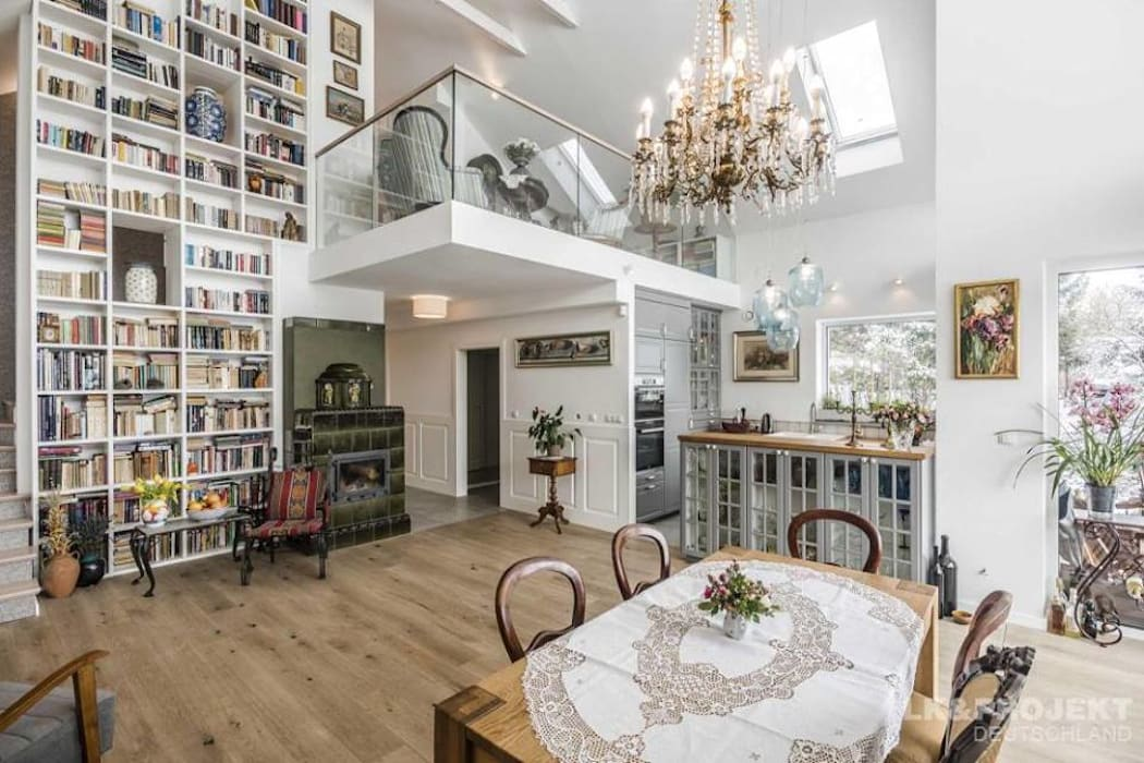 Das Hausprojekt Lk 1144 Ist Schon Fertig Gemutlich Hell Und Offen Moderne Hauser Von Lk Projekt Gmbh Modern Homify