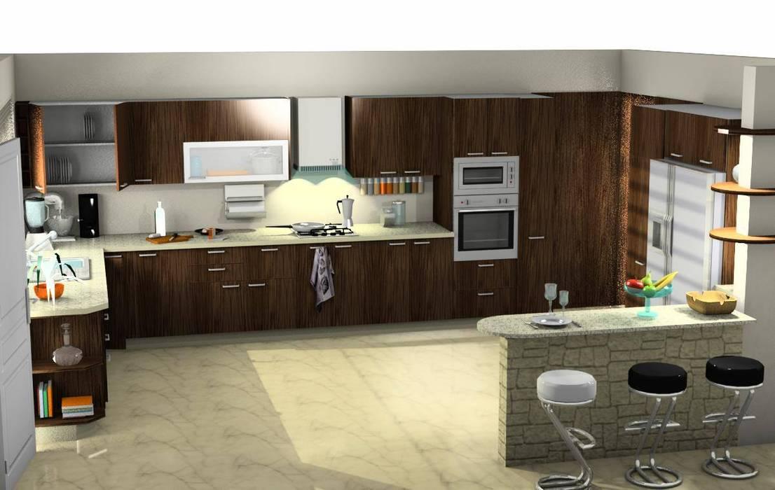 COCINA: Cocinas de estilo  por ESTUDIO DE ARQUITECTURA C.A, Moderno