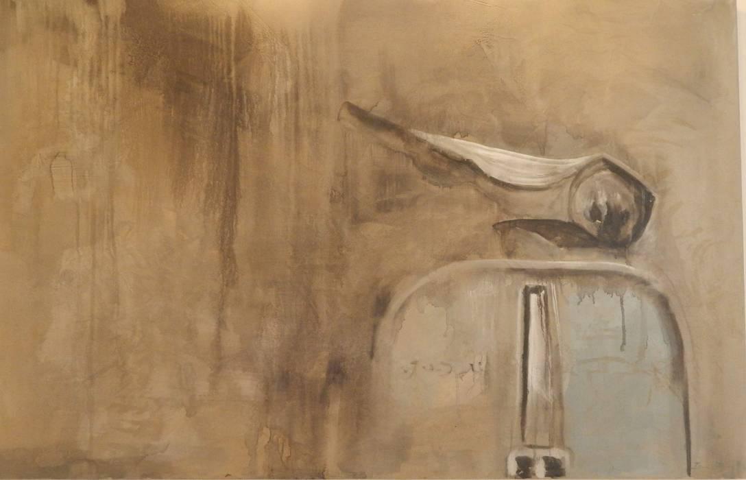 Dipinto vespa di Meraki di Irene Mancini Decorazione d'Interni Moderno
