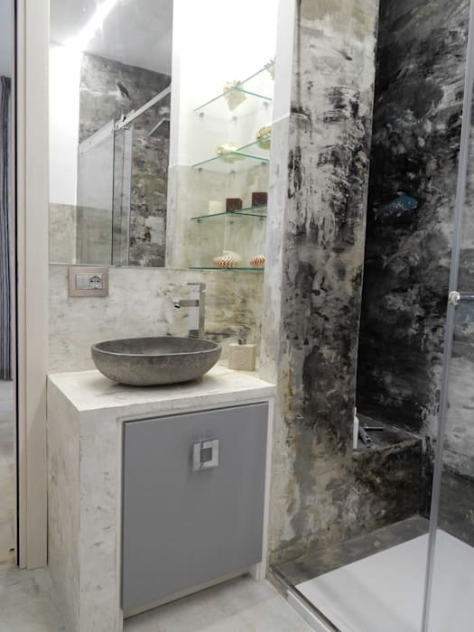 Modern Bathroom by Meraki di Irene Mancini Decorazione d'Interni Modern Concrete