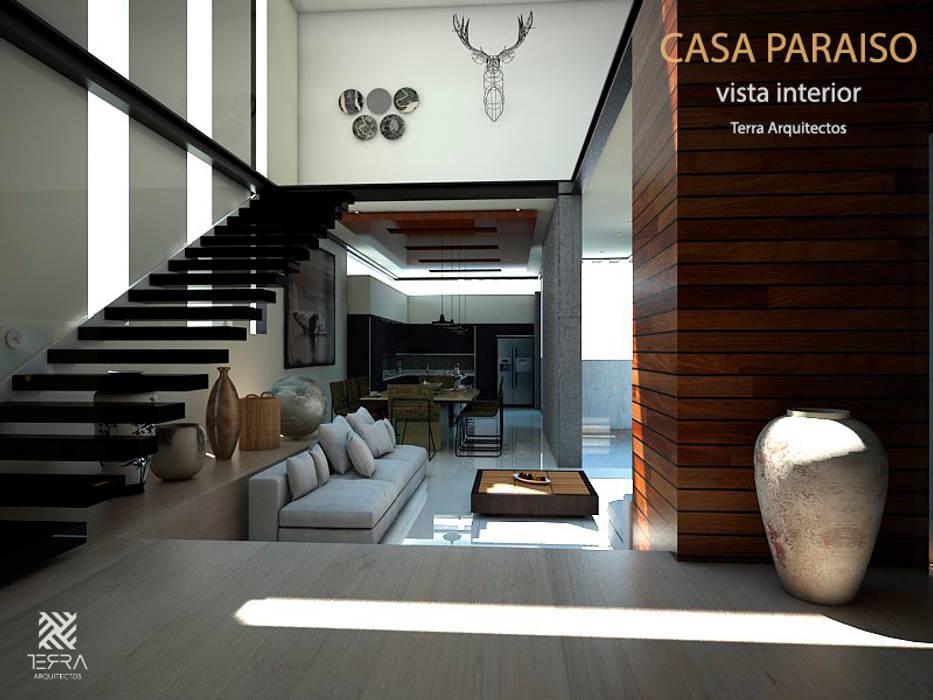 Ruang Keluarga Minimalis Oleh Fermin de la Mora Minimalis Kayu Wood effect