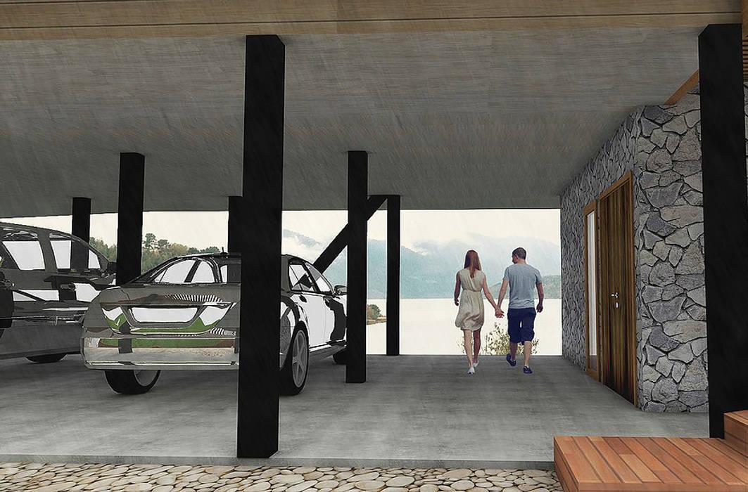 Garages de estilo  por homify, Moderno