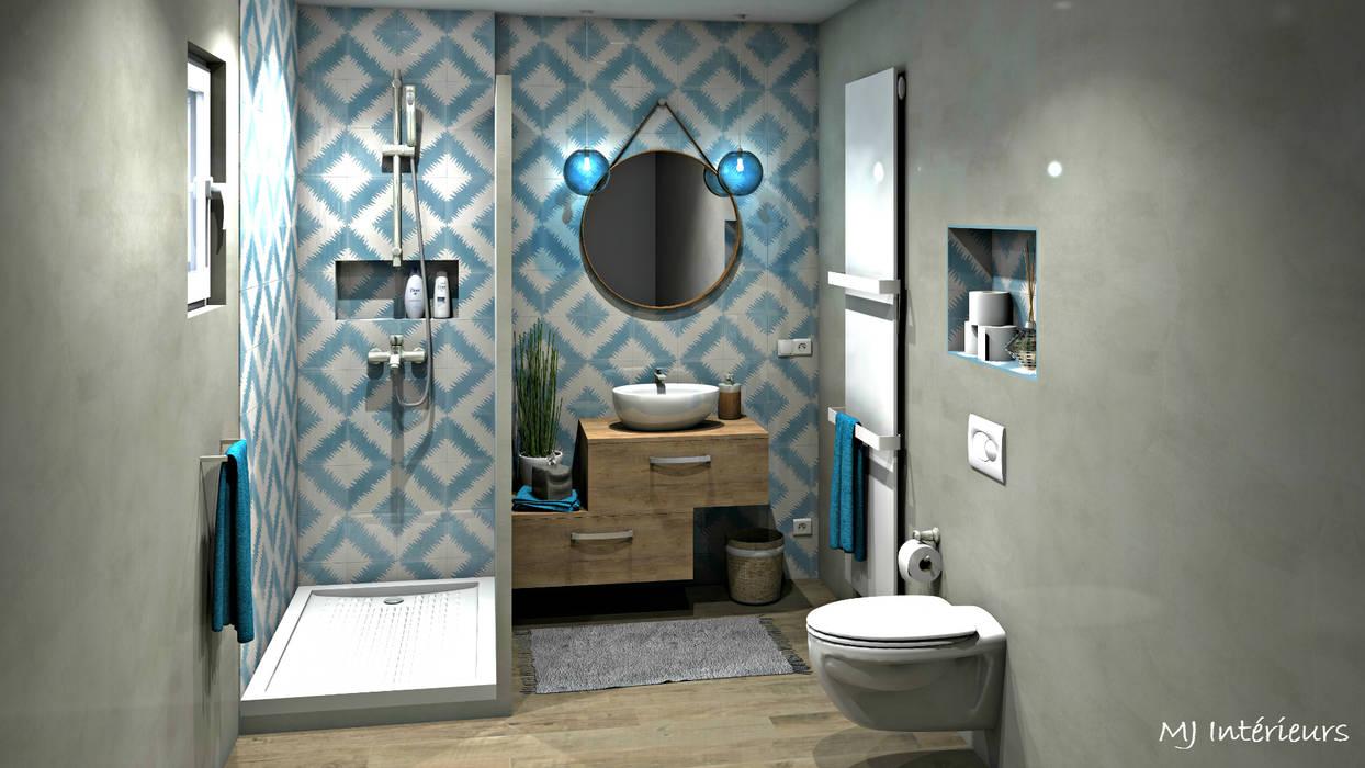 Ванные комнаты в . Автор – MJ Intérieurs, Средиземноморский