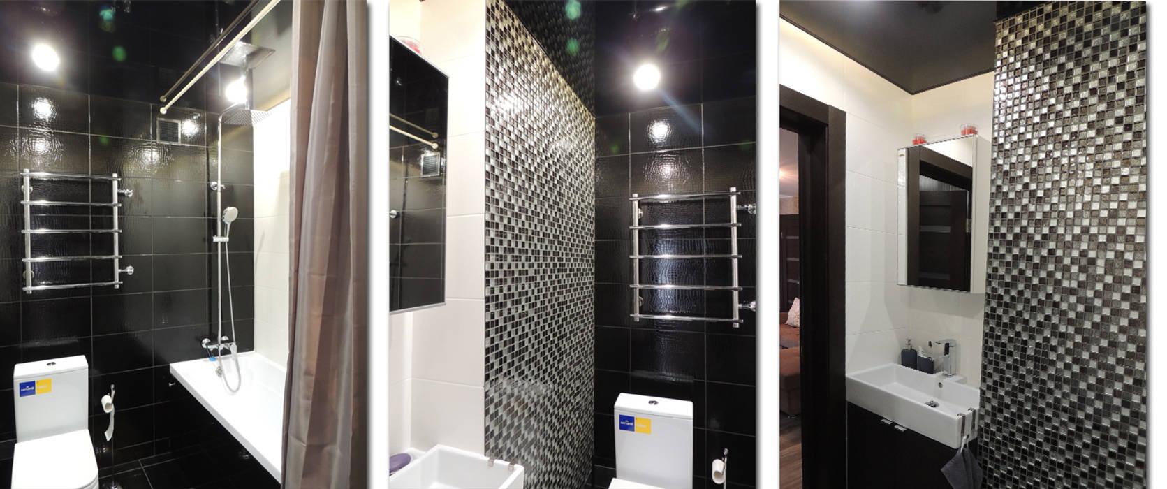 Квартира для холостяка Студия 'Облако-Дизайн' Ванная комната в эклектичном стиле