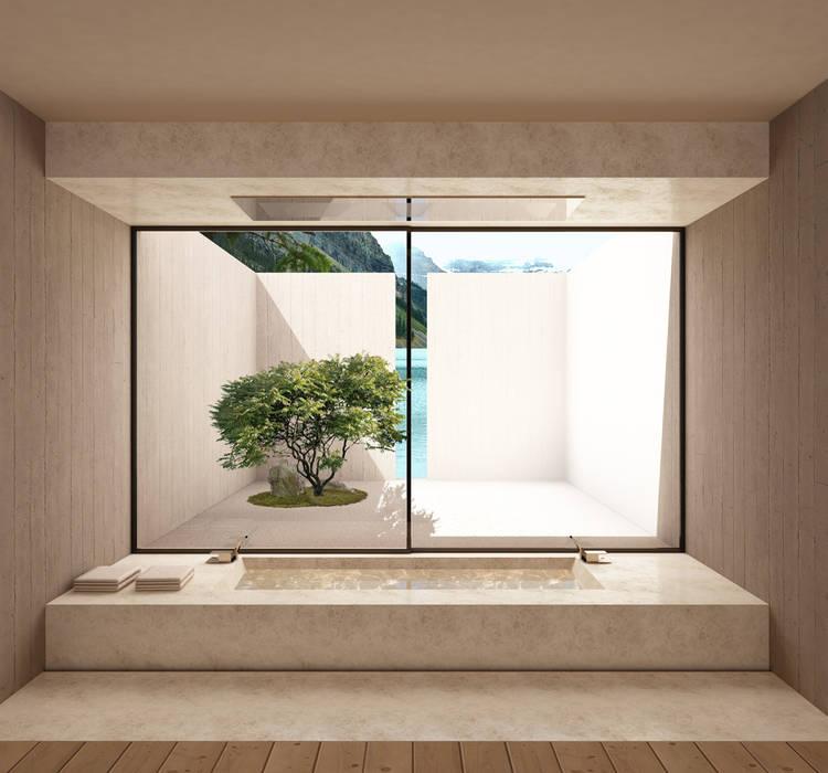 bagno 01: Bagno in stile in stile Minimalista di Horizon Studio