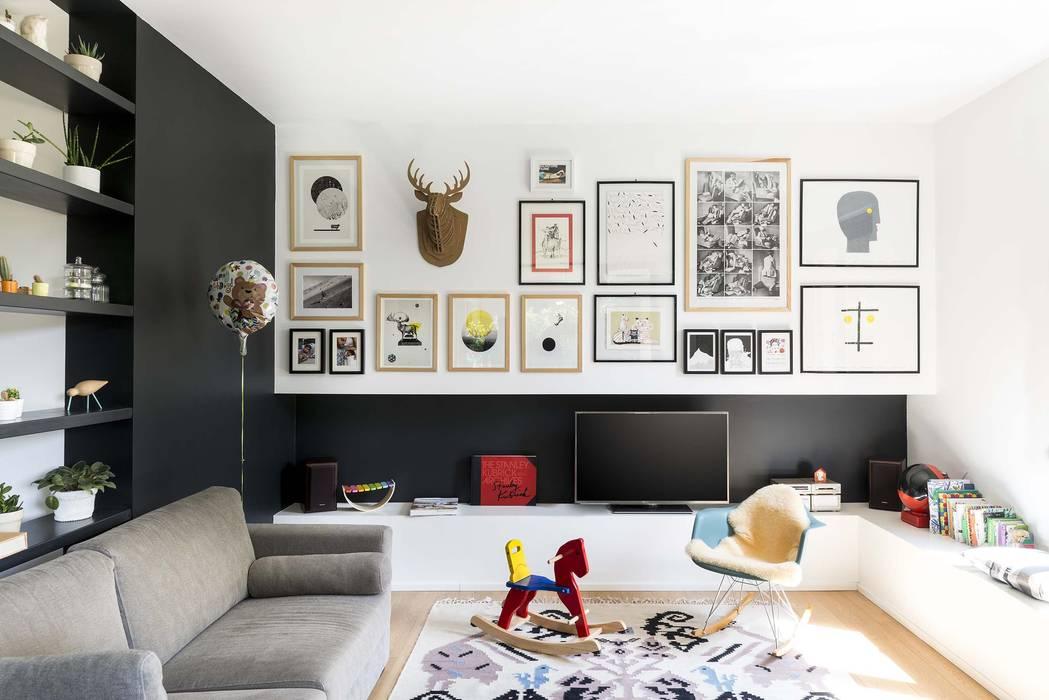 Living room by studio wok, Modern