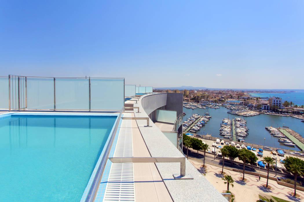 Swimming pool designs Modern Pool by Tono Vila Architecture & Design Modern
