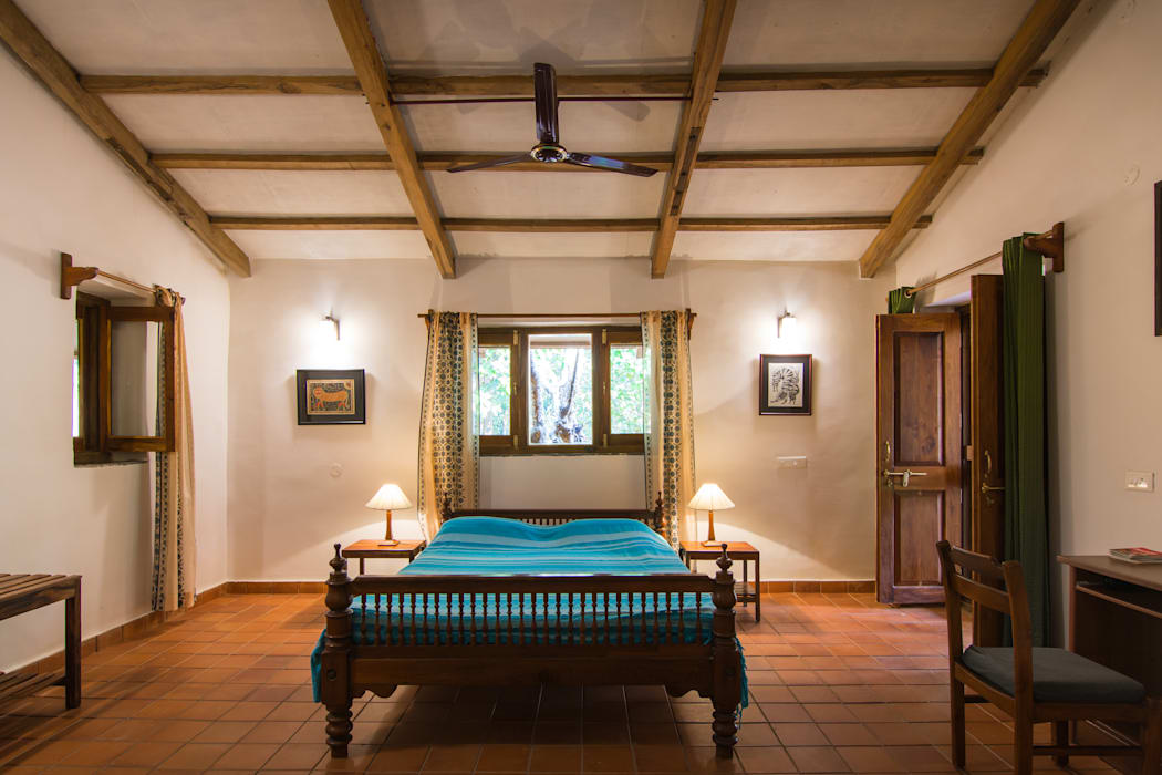 Homestay in Kanha National park, Madhya Pradesh M+P Architects Collaborative Modern style bedroom