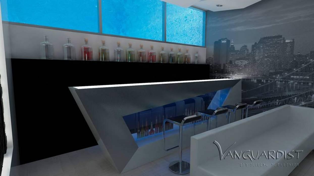 PROYECTO TERRAZA Y DISCOTECA LA PLANICIE - LIMA PERU: Salas de entretenimiento de estilo  por Vanguardist Design Studio , Moderno