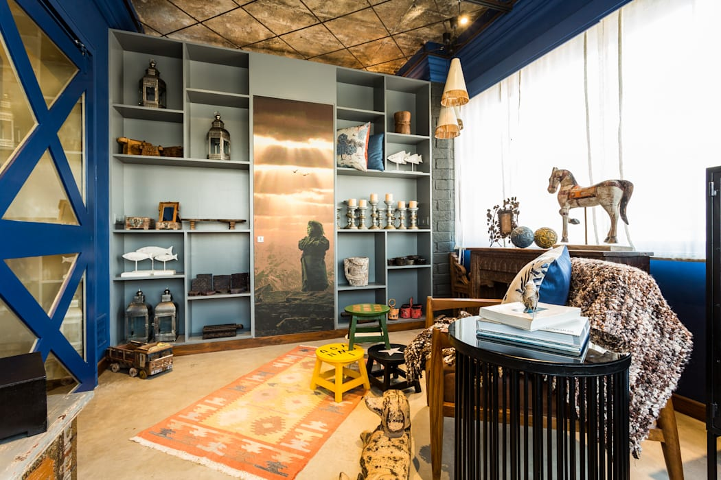Turiya Lifestyle LLP Living room Wood Blue