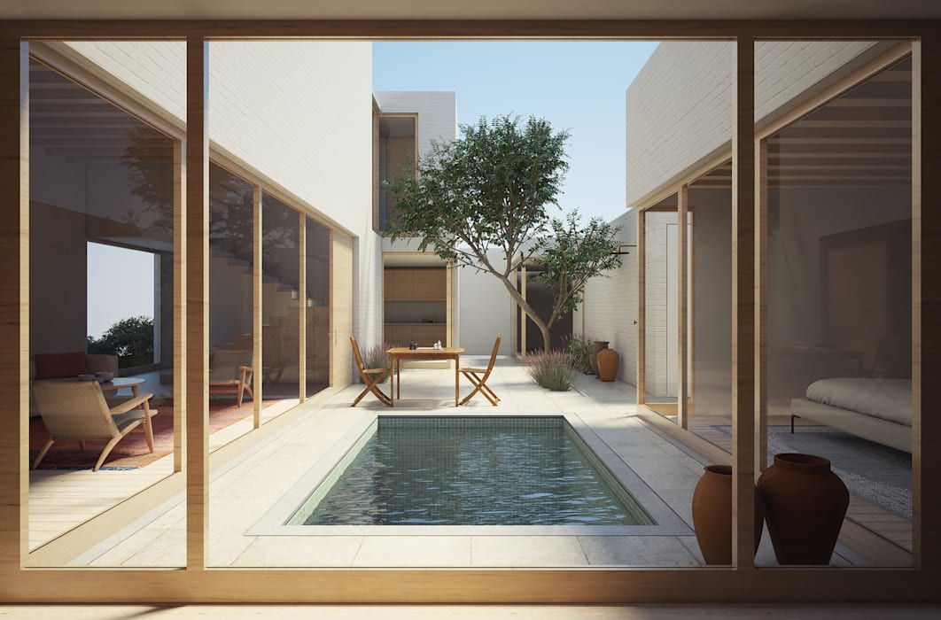 Modern pool by homify Modern Marble