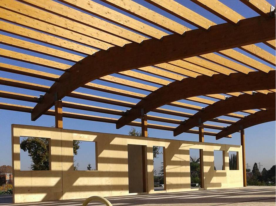 Copertura In Legno Lamellare : Struttura e copertura interamente realizzate in legno lamellare