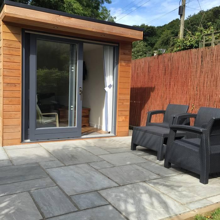 Helston Garden Box with Rear Storage Building With Frames Minimalist garage/shed Wood