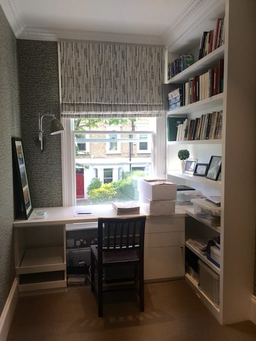 Home Office:  Study/office by fleur ward interior design