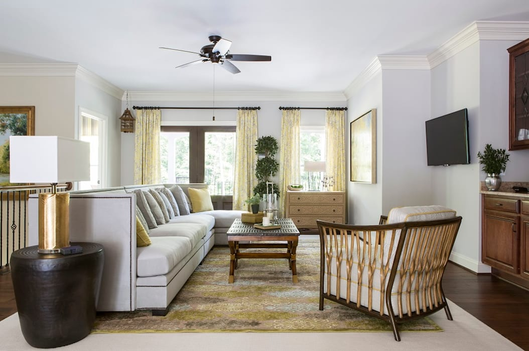 Lorna Gross Interior Design Salas de estar clássicas