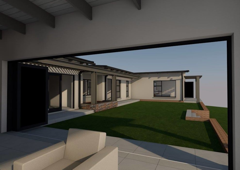 View from patio to garden by Seven Stars Developments