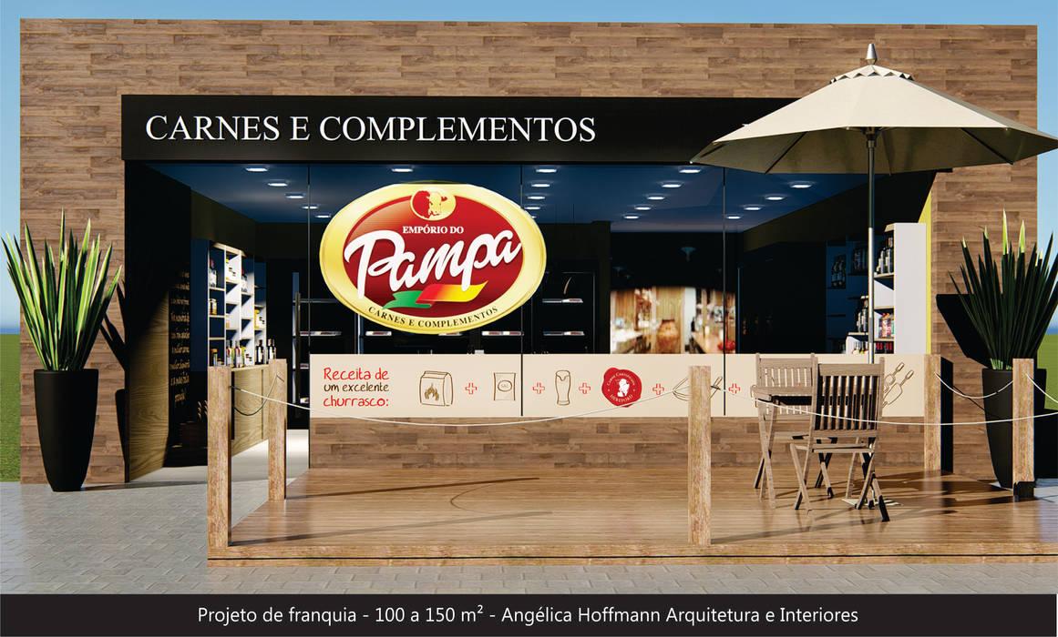 Emporio do Pampa Espaços gastronômicos campestres por Angelica Hoffmann Arquitetura e Interiores Campestre