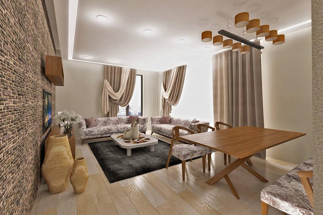 Living room by 50GR Mimarlık, Modern