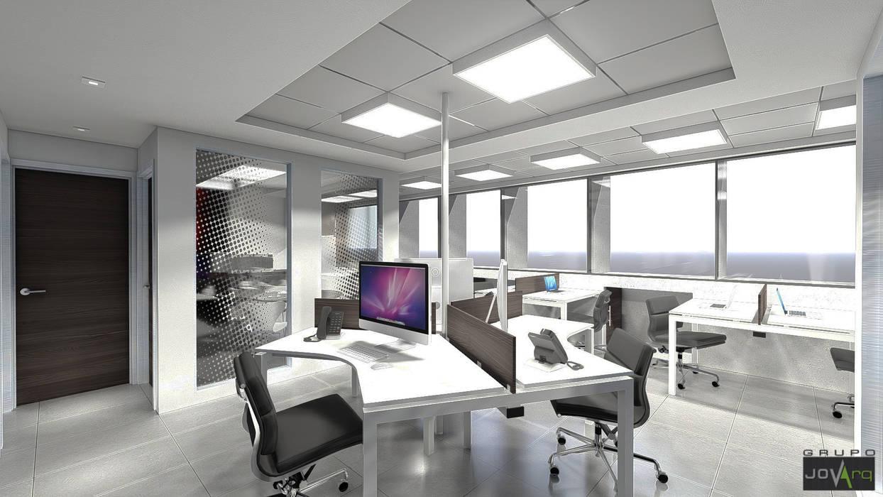 Oficina Legacys, Centro Plaza Oficinas de estilo minimalista de Grupo JOV Arquitectos Minimalista Mármol